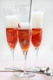 Champagne und Erdbeeren Lizenzfreie Stockfotografie