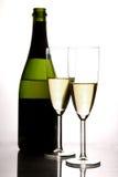 Champagne und Flöte Stockfotos