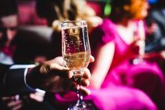 Champagne und Gläser Stockfotos