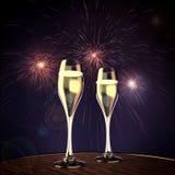 Champagne und guten Rutsch ins Neue Jahr stockfotografie