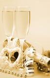 Champagne und Inneres Lizenzfreie Stockbilder