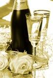Champagne und Rosen Lizenzfreies Stockfoto