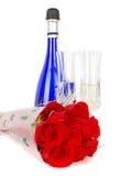 Champagne und Rosen Lizenzfreie Stockfotografie