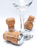 Champagne utensils Stock Photography