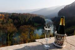 Champagne in vacanza Fotografie Stock Libere da Diritti