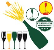 Champagne. Vector illustration (EPS 10 Royalty Free Stock Image