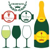 Champagne. Vector illustration (EPS 10 Royalty Free Stock Images