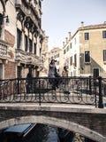 Champagne in Venedig Stockfoto