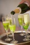 Champagne vert Image libre de droits