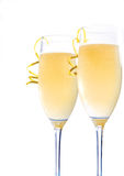 Champagne in vetri Fotografia Stock Libera da Diritti