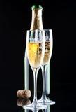Champagne in vetri Fotografie Stock