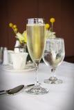 Champagne in vetro classico Fotografia Stock Libera da Diritti