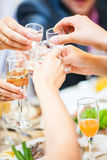Champagne and vodka drinks Royalty Free Stock Photo