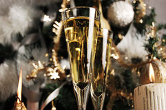 Champagne waiting for Christmas Royalty Free Stock Photos