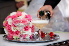 Champagne on wedding Royalty Free Stock Image