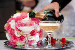 Champagne on wedding Stock Photo