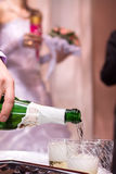 Champagne on wedding celebration Royalty Free Stock Photography