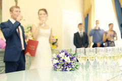 Champagne on the wedding ceremony Royalty Free Stock Photo