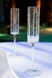 Champagne Wedding Flutes Royalty Free Stock Photos
