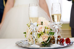 Champagne on wedding Royalty Free Stock Photos