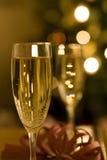 Champagne am Weihnachten Lizenzfreie Stockfotografie