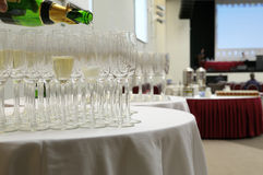 Champagne welcome for guests. Stock Image