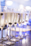 Champagne white wine glasses in wedding party Royalty Free Stock Photography