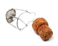 Champagne wine cork and muselet Stock Image