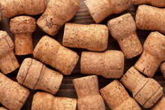 Champagne wine corks texture Stock Photos