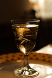 Champagne wine glass. Graceful wine glass filled with magnificent and tasty champagne stock images