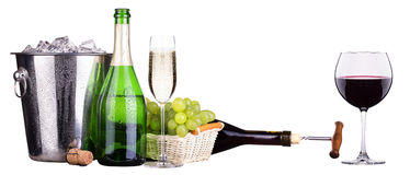 Champagne and wine  Stock Image