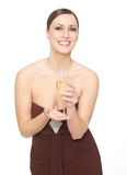 Champagne Woman Stock Photography