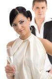 champagne woman Στοκ Εικόνα
