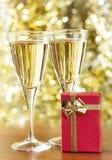 Champagnea Nd-kleines Geschenk lizenzfreie stockfotos