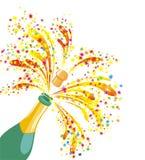 Champagneberöm. Vektorillustration   Royaltyfri Bild