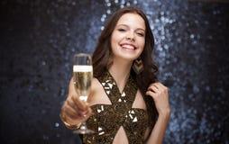 Champagneberöm. Fotografering för Bildbyråer