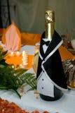 champagnebröllop Fotografering för Bildbyråer