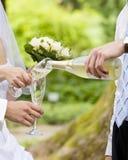 champagnebröllop Royaltyfri Fotografi