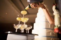 Champagnebröllop Arkivbilder