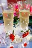 champagnedetaljbröllop Royaltyfria Foton