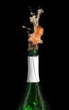 champagneexplosion Arkivfoto