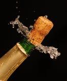 champagneexplosion Royaltyfri Bild