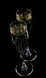 champagneexponeringsglas royaltyfri bild