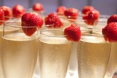 champagneexponeringsglas Royaltyfri Foto