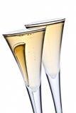 champagneexponeringsglas Arkivfoto