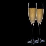 champagneexponeringsglas Arkivbilder