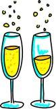 champagneexponeringsglas vektor illustrationer
