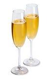 champagneexponeringsglas fotografering för bildbyråer