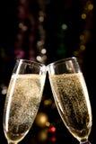 champagneexponeringsglas som gör rostat bröd Arkivfoto