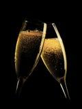 champagneexponeringsglas två Fotografering för Bildbyråer